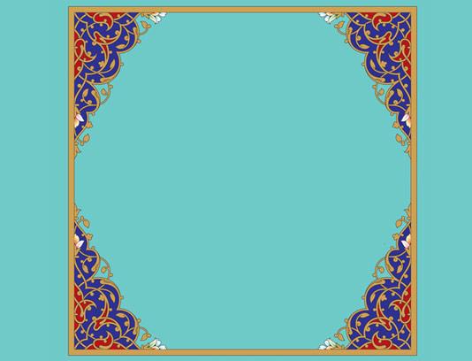 وکتور طرح کادر و حاشیه اسلیمی شماره ۰۳