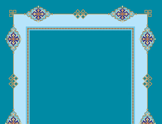 وکتور طرح قاب و حاشیه اسلیمی شماره ۰۱
