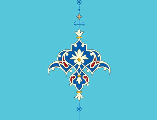 وکتور طرح المان و نماد اسلامی شماره ۴۰
