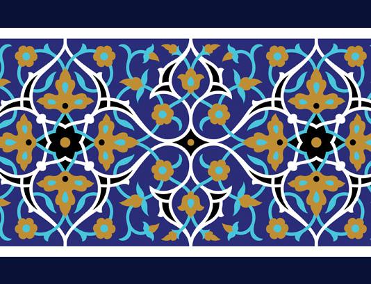 وکتور طرح کاشی کاری اسلامی شماره ۱۴۱