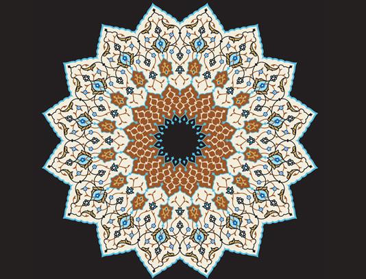 وکتور طرح کاشی کاری اسلامی شماره ۱۴۲