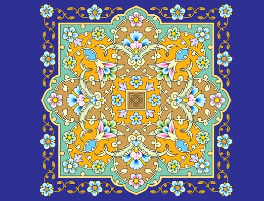 وکتور طرح کاشی کاری اسلامی شماره ۱۴۳