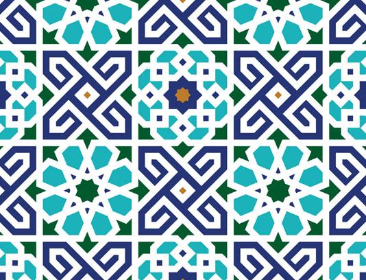 وکتور طرح کاشی کاری اسلامی شماره ۱۴۴