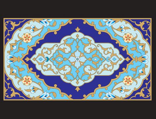 وکتور طرح کاشی کاری اسلامی شماره ۱۴۵
