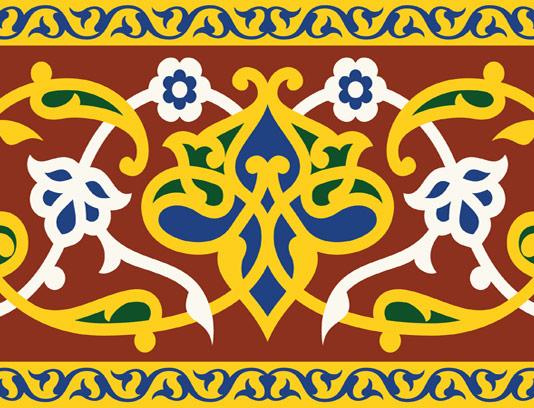 وکتور طرح کاشی کاری اسلامی شماره ۱۴۶