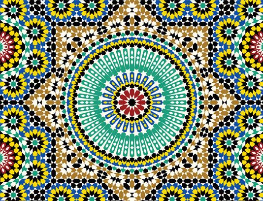وکتور طرح کاشی کاری اسلامی شماره ۱۴۷