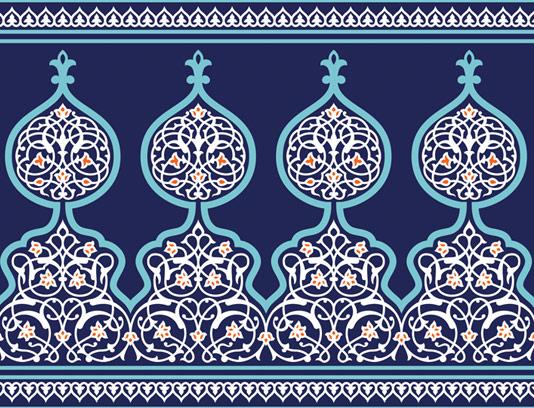 وکتور طرح کاشی کاری اسلامی شماره ۱۵۱