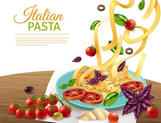 وکتور طرح پاستای ایتالیایی