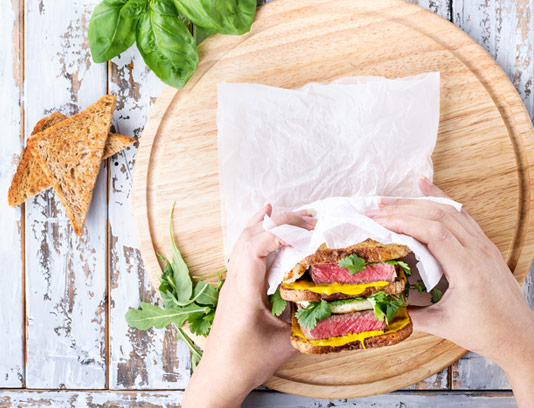 عکس با کیفیت ساندویچ استیک گوشت
