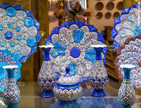 عکس با کیفیت صنایع دستی ایرانی مینا کاری