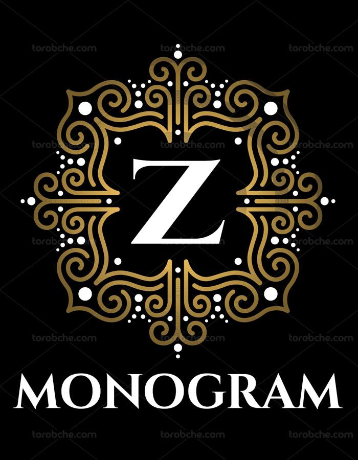 وکتور طرح لوگوی مونوگرام لاکچری شماره ۲۳