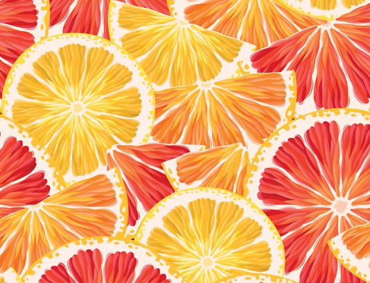وکتور پترن میوه ای پرتقال و گریپ فروت