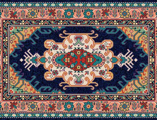 وکتور طرح و نقش فرش ایرانی شماره ۰۳