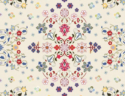وکتور طرح سنتی فرش ایرانی شماره ۰۱