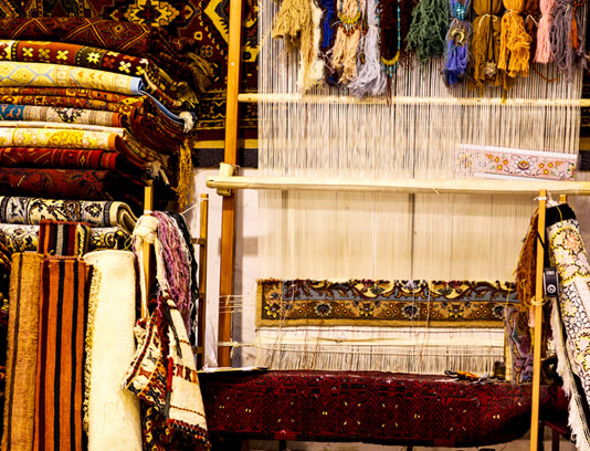 عکس با کیفیت دار قالی باقی ایرانی