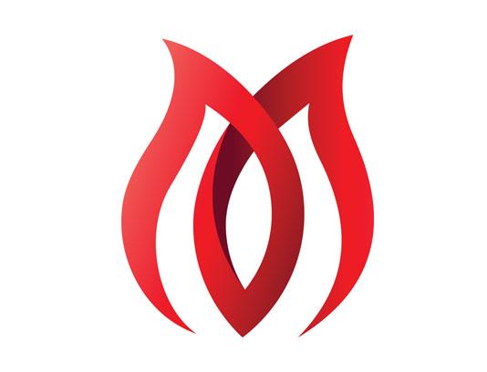 وکتور لوگوی گل لاله ی سرخ