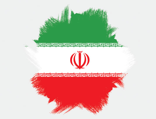 وکتور طرح پرچم ایران به صورت گرانج و اسپلش