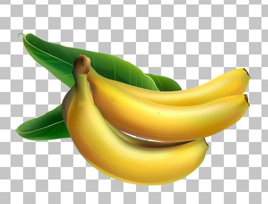 عکس با کیفیت دوربری شده میوه موز PNG