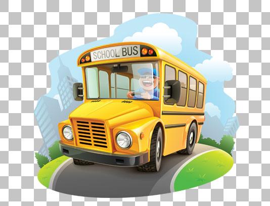 وکتور با کیفیت بدون پس زمینه اتوبوس زرد رنگ