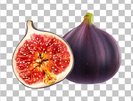 عکس دوربری شده میوه انجیر با کیفیت عالی PNG