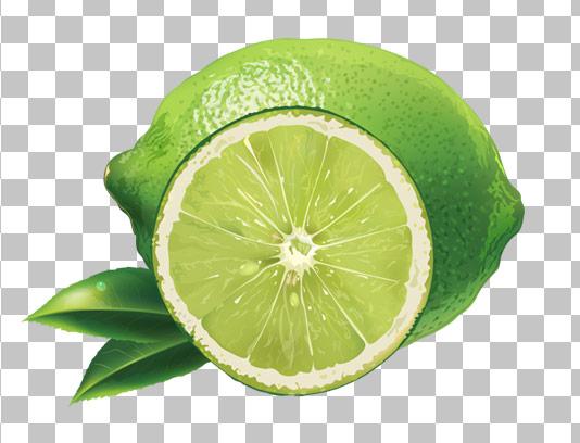 عکس با کیفیت دوربری شده لیمو ترش سبز PNG