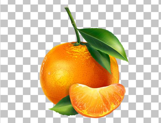 عکس با کیفیت نارنگی دوربری شده PNG