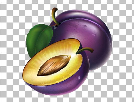 عکس با کیفیت میوه آلوچه دوربری شده PNG