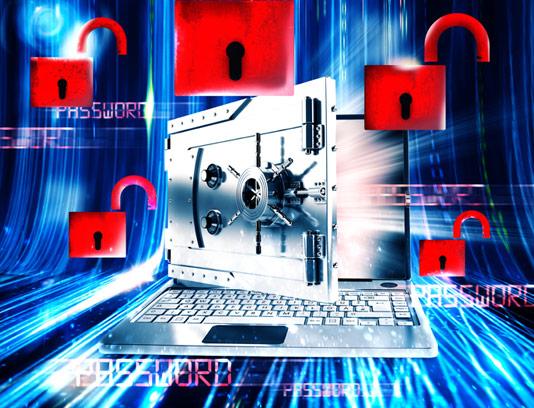 عکس با کیفیت مفهومی امنیت دیجیتال و رمزنگاری