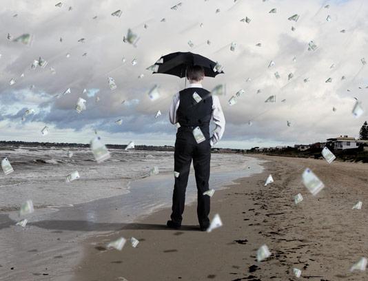 عکس با کیفیت مفهومی بارش دلار