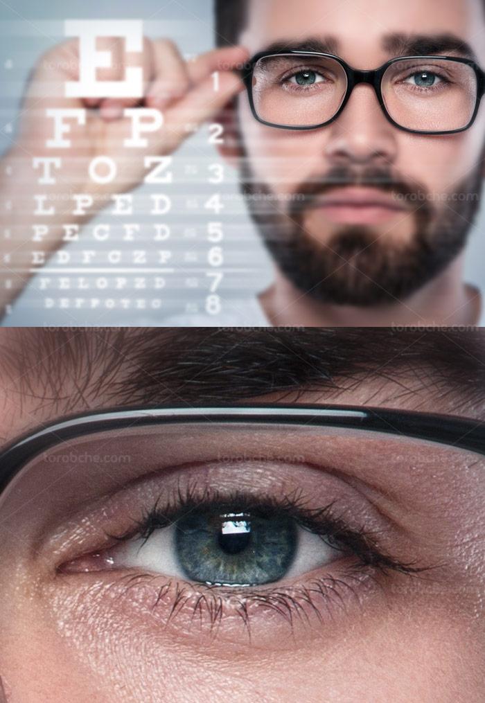 عکس با کیفیت سنجش بینایی و عینک
