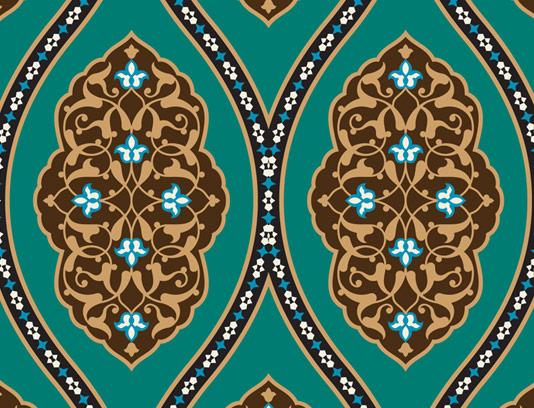 وکتور طرح کاشی کاری اسلامی شماره ۱۵۲