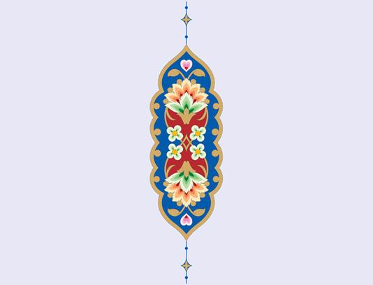 وکتور طرح المان و نماد اسلامی شماره ۴۷