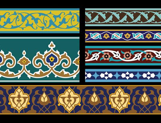وکتور طرح کاشی کاری اسلامی شماره ۱۵۳