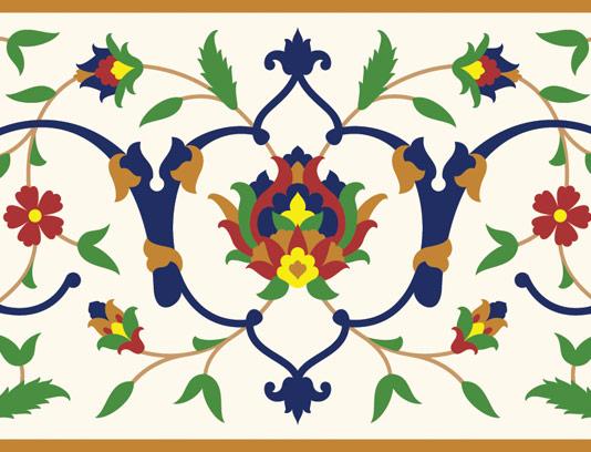 وکتور طرح کاشی کاری اسلامی شماره ۱۵۵