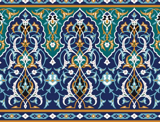 وکتور طرح کاشی کاری اسلامی شماره ۱۵۹