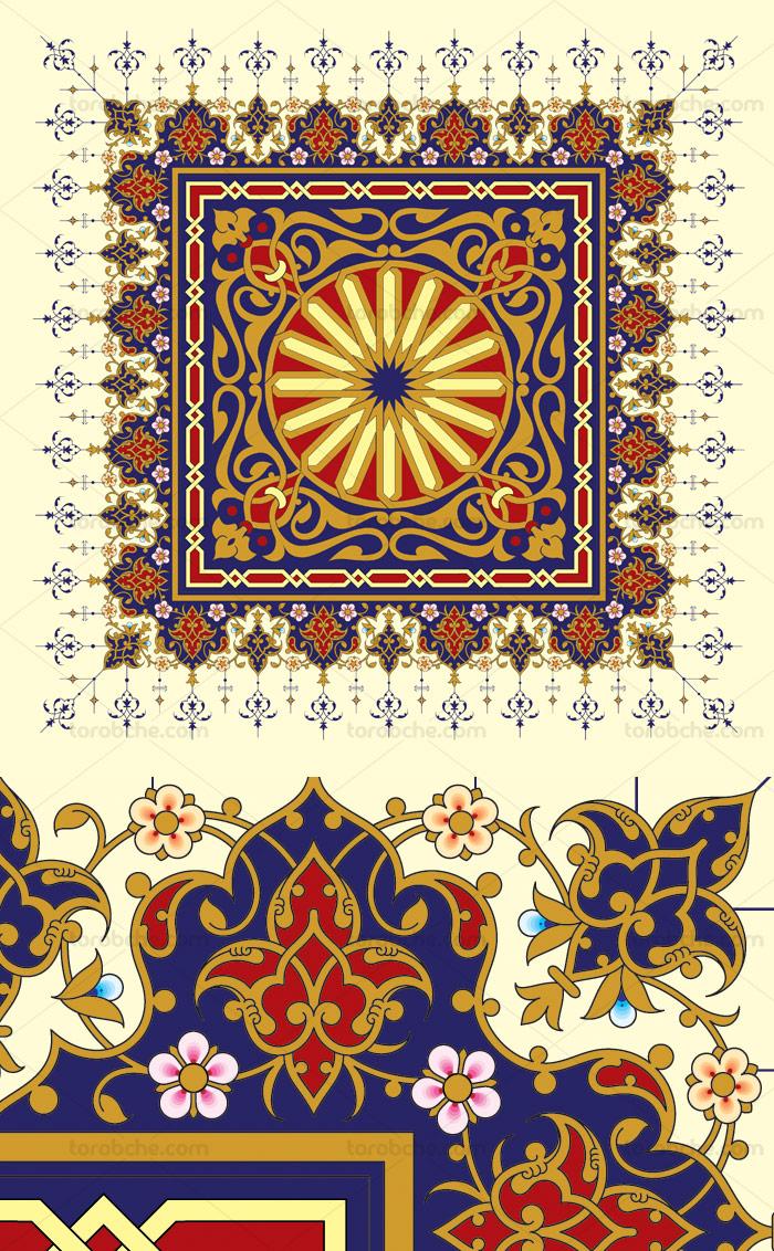 وکتور طرح کاشی کاری اسلامی شماره ۱۶۳