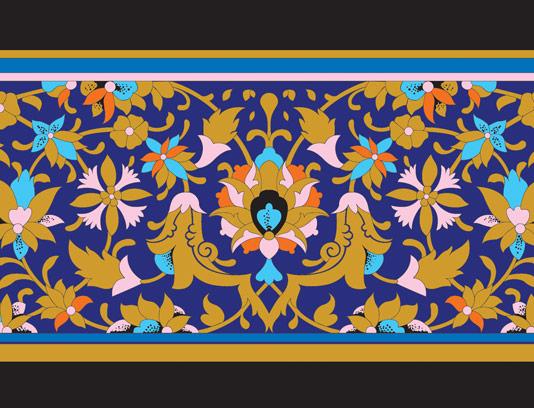 وکتور طرح کاشی کاری اسلامی شماره ۱۶۵