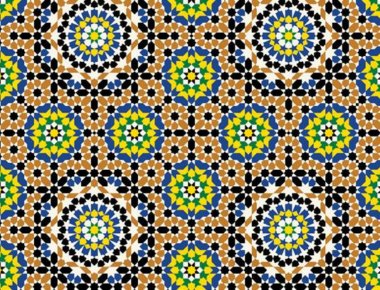 وکتور طرح کاشی کاری اسلامی شماره ۱۶۶