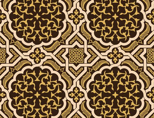 وکتور طرح کاشی کاری اسلامی شماره ۱۶۷