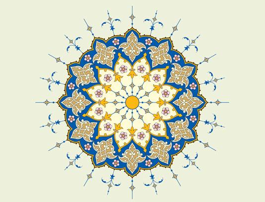 وکتور طرح کاشی کاری اسلامی شماره ۱۶۲