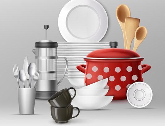 وکتور لوازم و ظروف آشپزخانه