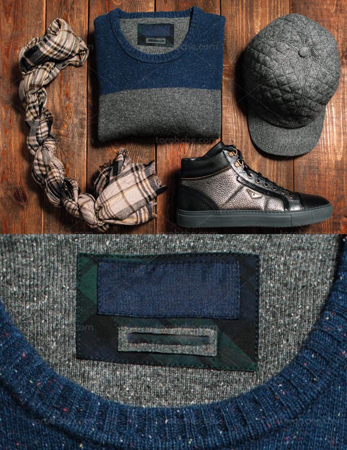 عکس ست مردانه کلاه، کفش، شالگردن و لباس با کیفیت عالی