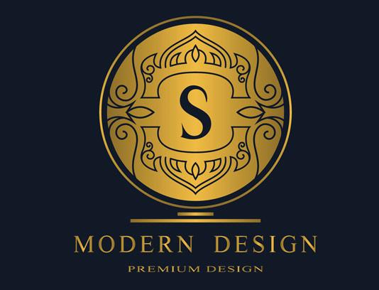 وکتور طرح لوگوی مونوگرام لاکچری شماره ۲۴