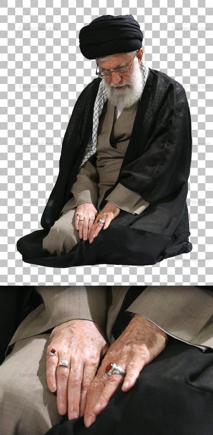 عکس با کیفیت دوربری شده امام خامنه ای شماره ۰۴