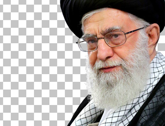 عکس با کیفیت دوربری شده امام خامنه ای شماره ۰۵