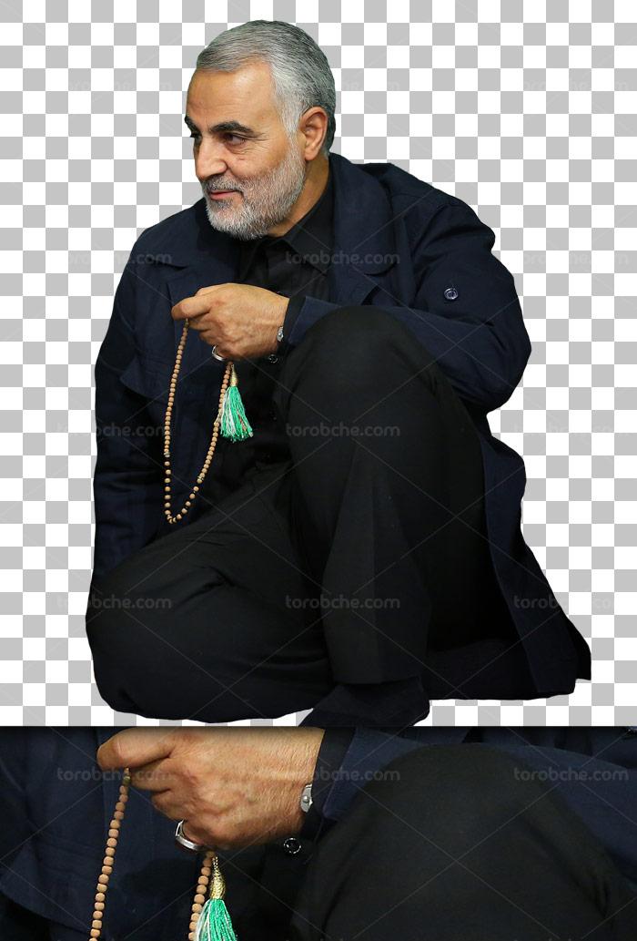 عکس با کیفیت دوربری شده سردار قاسم سلیمانی PNG