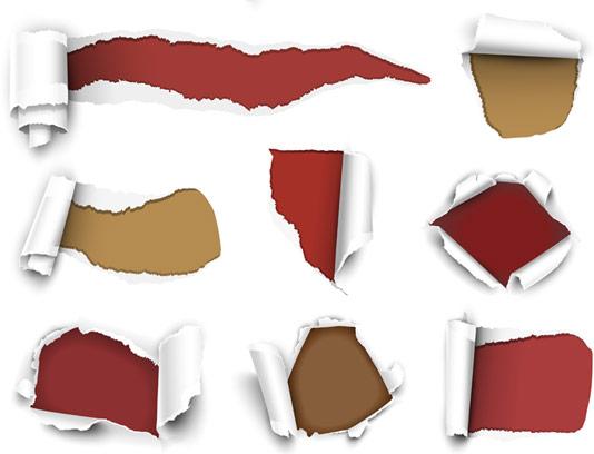 وکتور مجموعه ۱۱ طرح کاغذ پاره شده