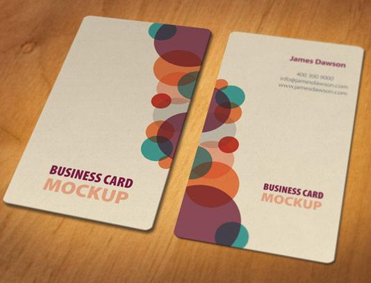 موکاپ کارت ویزیت دوطرفه لایه باز شماره ۱۷