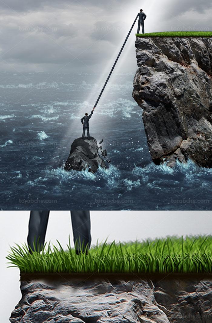 عکس با کیفیت مفهومی کمک و نجات از مشکل