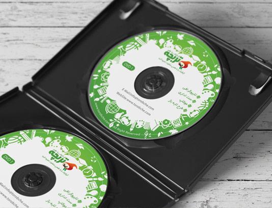 طرح لایه باز لیبل DVD و CD آموزشی تحصیلی